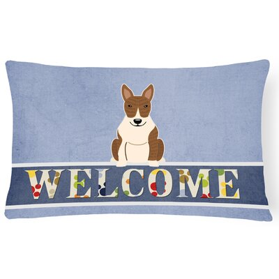 Rowes Bull Terrier Welcome Lumbar Pillow Pillow Cover Color: Brindle