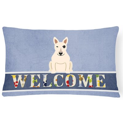Elton Bull Terrier Welcome Lumbar Pillow