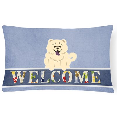 Elvin Chow Chow Welcome Lumbar Pillow Pillow Cover Color: White