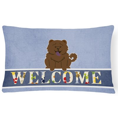 Elvin Chow Chow Welcome Lumbar Pillow Pillow Cover Color: Chocolate