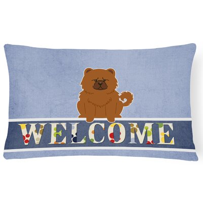 Elvin Chow Chow Welcome Lumbar Pillow Pillow Cover Color: Brown