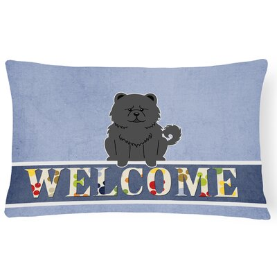 Elvin Chow Chow Welcome Lumbar Pillow Pillow Cover Color: Black