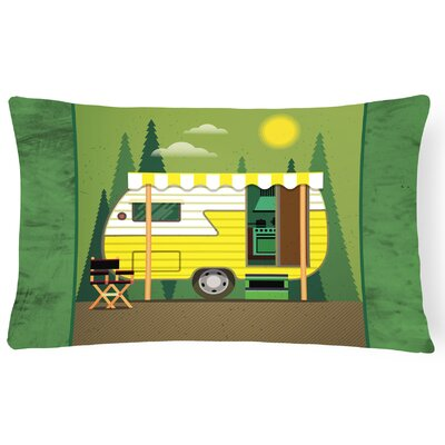 Greatest Adventure Retro Camper Lumbar Pillow