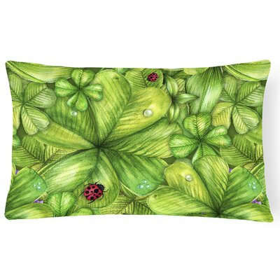 Shamrocks and Lady bugs Lumbar Pillow