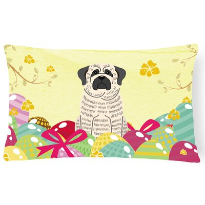 Easter Eggs Mastiff Lumbar Pillow Pillow Cover Color: Brindle/White