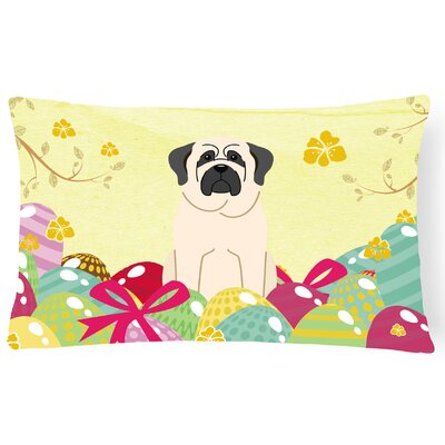 Easter Eggs Mastiff Lumbar Pillow Pillow Cover Color: Mastiff/White