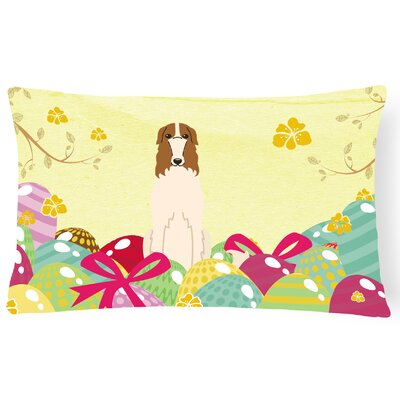 Easter Eggs Borzoi Lumbar Pillow