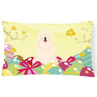 Easter Eggs South Russian Sheepdog Lumbar Pillow