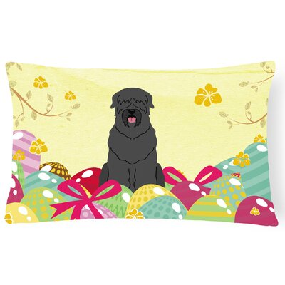 Easter Eggs Russian Terrier Lumbar Pillow