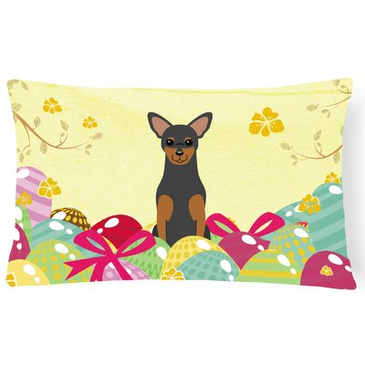 Easter Eggs Manchester Terrier Lumbar Pillow