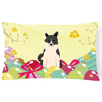 Easter Eggs Russo-European Laika Spitz Lumbar Pillow