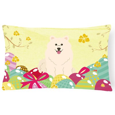 Easter Eggs Samoyed Lumbar Pillow