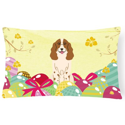 Easter Eggs Russian Spaniel Lumbar Pillow