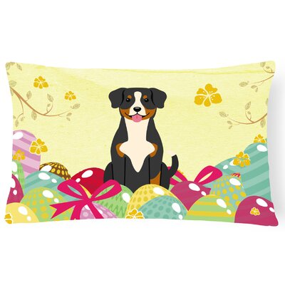 Easter Eggs Entlebucher Lumbar Pillow