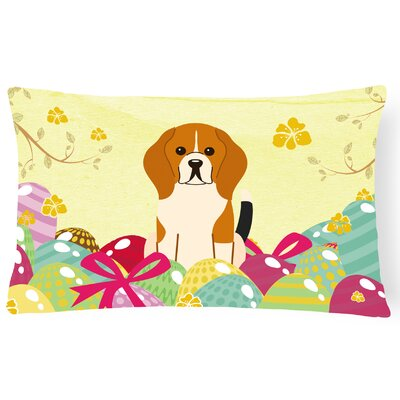 Easter Eggs Beagle Lumbar Pillow