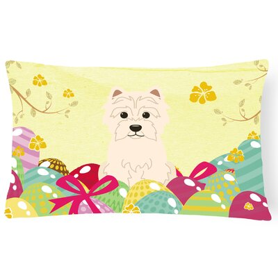 Easter Eggs Westie Lumbar Pillow