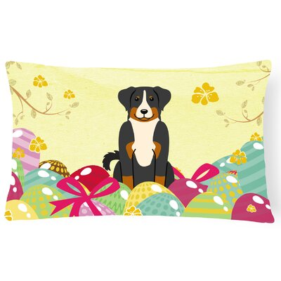 Easter Eggs Appenzeller Sennenhund Lumbar Pillow