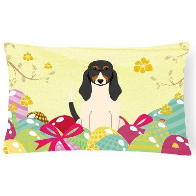Easter Eggs Swiss Hound Lumbar Pillow