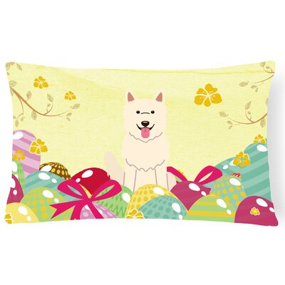 Easter Eggs German Shepherd Rectangular Lumbar Pillow