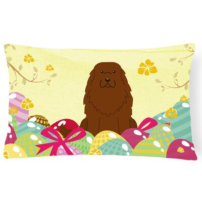 Easter Eggs Caucasian Shepherd Dog Lumbar Pillow