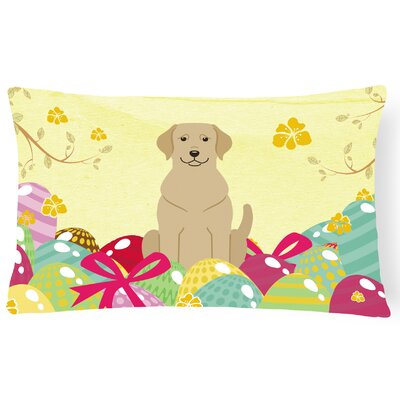 Easter Eggs Labrador Rectangle Lumbar Pillow
