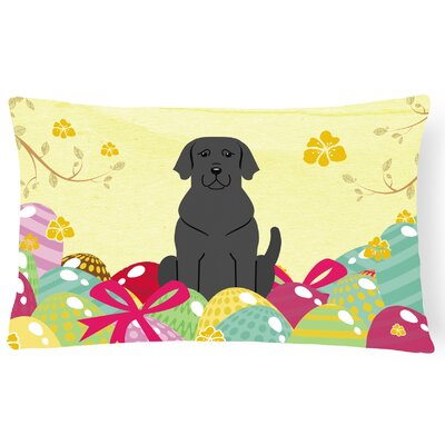 Easter Eggs Labrador Lumbar Pillow