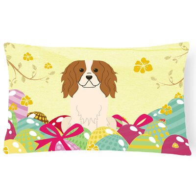 Easter Eggs Cavalier Spaniel Lumbar Pillow