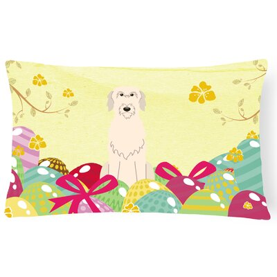 Easter Eggs Irish Wolfhound Lumbar Pillow