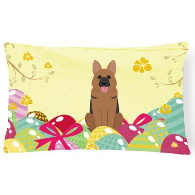 Easter Eggs German Shepherd Lumbar Pillow