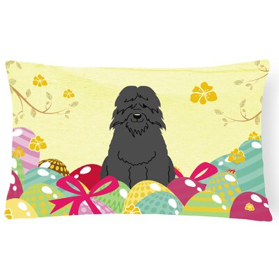 Easter Eggs Bouvier des Flandres Lumbar Pillow