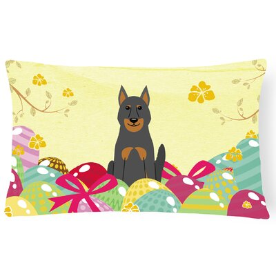 Easter Eggs Beauce Shepherd Dog Lumbar Pillow