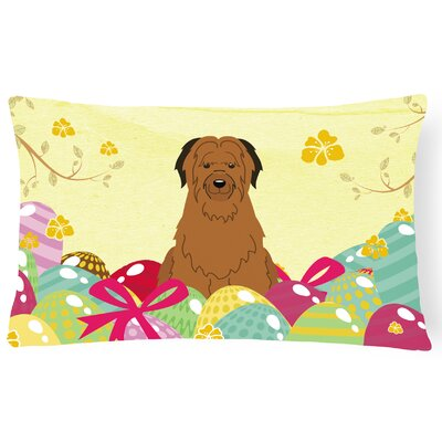 Easter Eggs Briard Lumbar Pillow
