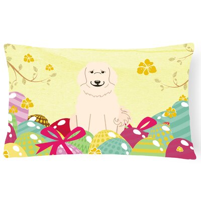 Easter Eggs Great Pyrenese Lumbar Pillow