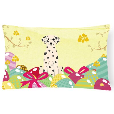 Easter Eggs Dalmatian Lumbar Pillow