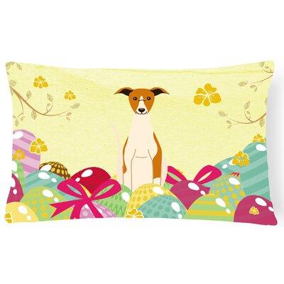 Easter Eggs Whippet Lumbar Pillow