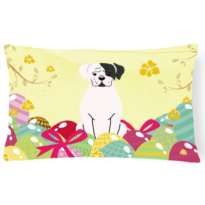 Easter Eggs Boxer Cooper Lumbar Pillow