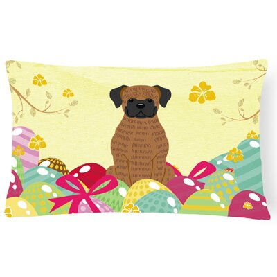 Easter Eggs Boxer Lumbar Pillow