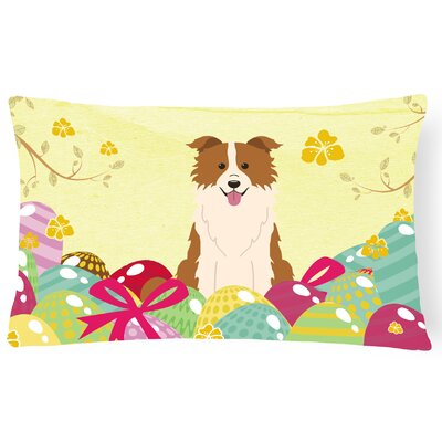 Easter Eggs Border Collie Lumbar Pillow