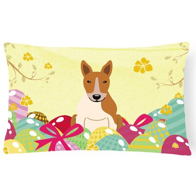 Easter Eggs Bull Terrier Lumbar Pillow