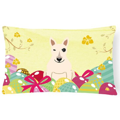 Easter Eggs Bull Terrier Indoor/Outdoor Lumbar Pillow