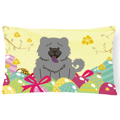Easter Eggs Chow Chow Lumbar Rectangular Pillow