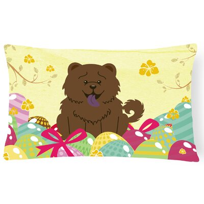 Easter Eggs Rectangular Chow Chow Lumbar Pillow Pillow Cover Color: Chocolate