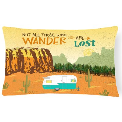 Luray Retro Camper Camping Wander Lumbar Pillow