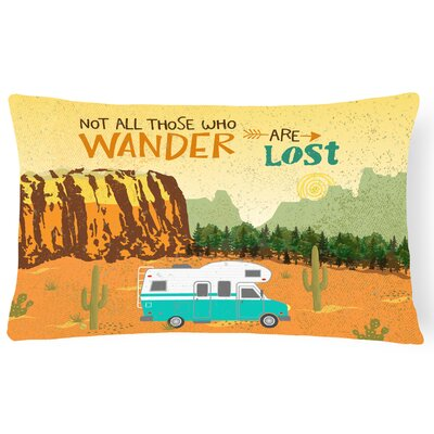 Melfa RV Camper Camping Wander Lumbar Pillow