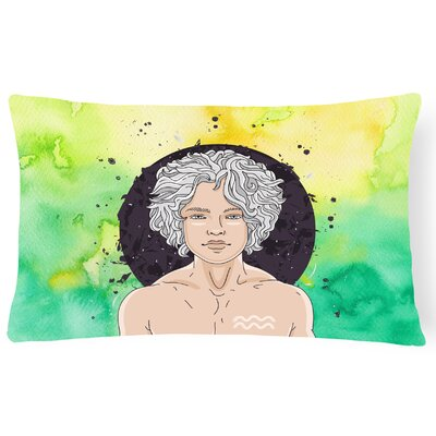 Aquarius Zodiac Sign Lumbar Pillow
