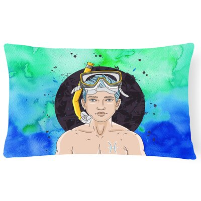 Pisces Zodiac Sign Lumbar Pillow