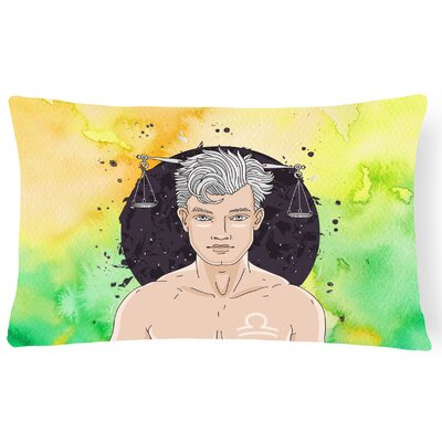 Libra Zodiac Sign Lumbar Pillow