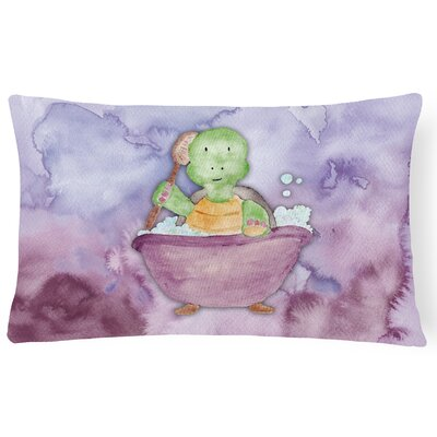 Karina Turtle Bathing Watercolor Lumbar Pillow