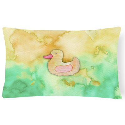 Kayla Rubber Duckie Watercolor Lumbar Pillow