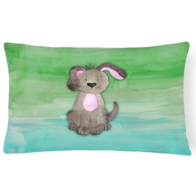 Harriett Dog Watercolor Lumbar Pillow